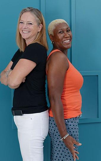 DeeAnn McCoy, left, and Jackie Thomas