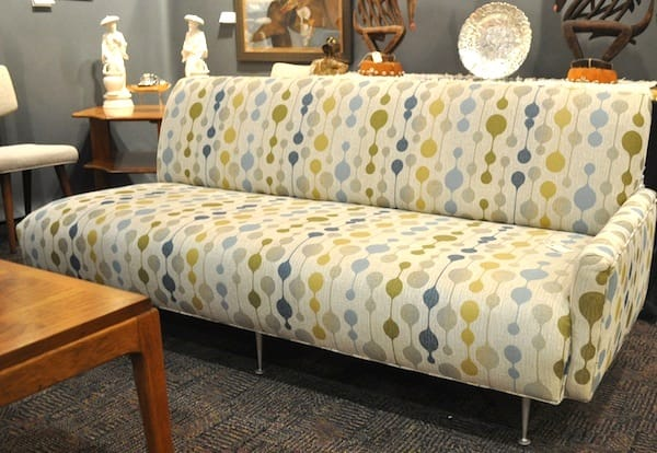 Nice looking couch from Mary Johnson Antiques in Upland, Calif.