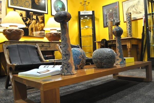 Southwestern modern decor from Casa Navarro Gallery in Santa Fe, NM.