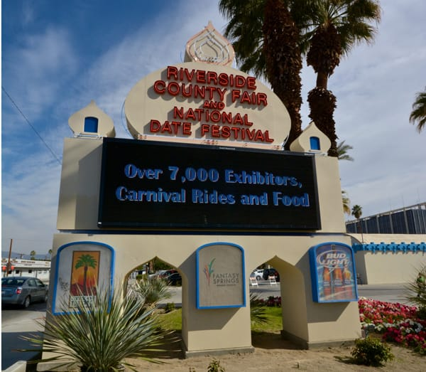 Come and check out the exhibitors, carnival rides, and food available at the Riverside County Fair & National Date Festival.