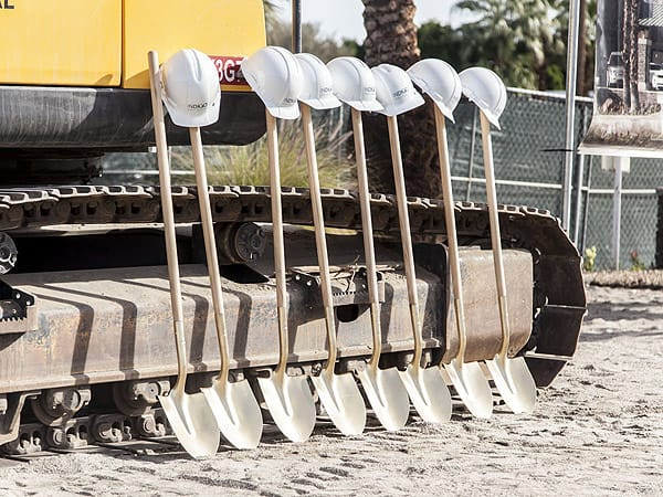 Ground breaking on the new Jaguar Rancho Mirage Showroom - Jan. 20, 2015
