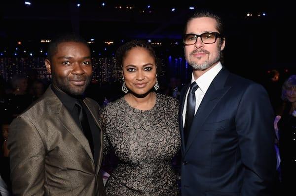 Actor David Oyelowo, director Ava DuVernay and producer Brad Pitt from 'Selma.'