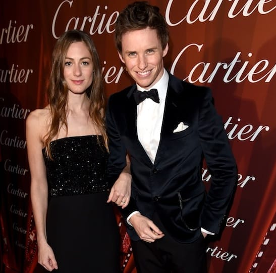 Eddie Redmayne and his wife, Hannah Bagshawe.