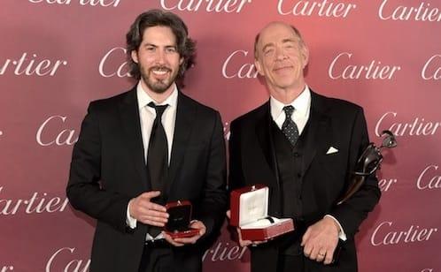 J.K. Simmons (right) received the Spotlight Award for 'Whiplash' presented by 'Juno' director Jason Reitman.