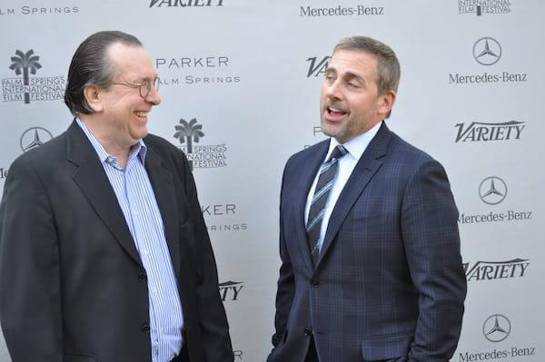 The two Steves share a laugh - Variety Executive Editor Steven Gaydos and actor Steve Carrell.