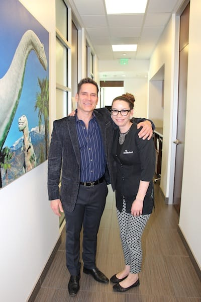 Dr. Timothy Jochen and Anne Marie Johnson, esthetician.