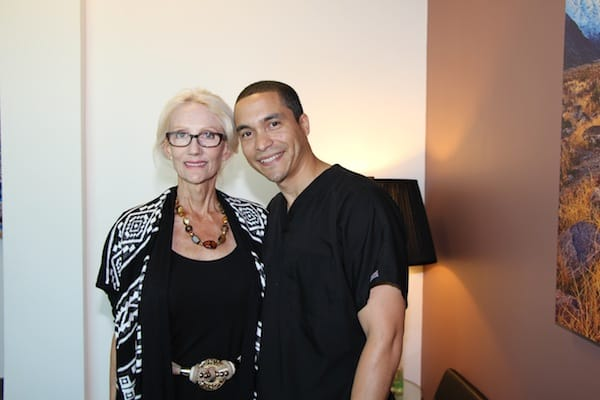Jacquelyn Smith and Eddie Urena – massage therapists at Contour Dermatology.