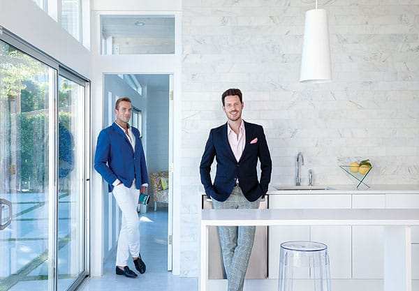 Sebastian Sierra, left, and Pjetur Sigurdson created this home's interior as their first Palm Springs endeavor since relocating their Hollywood Home design business from Los Angeles.