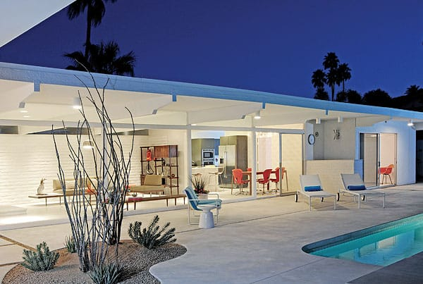 One of Gilmer's Palm Springs projects involved the renovation of a 1960s home in Deepwell designed by midcentury architect Hugh Kaptur. Gilmer stripped it back to its original bones and then redesigned the layout to suit a 21st-century lifestyle.