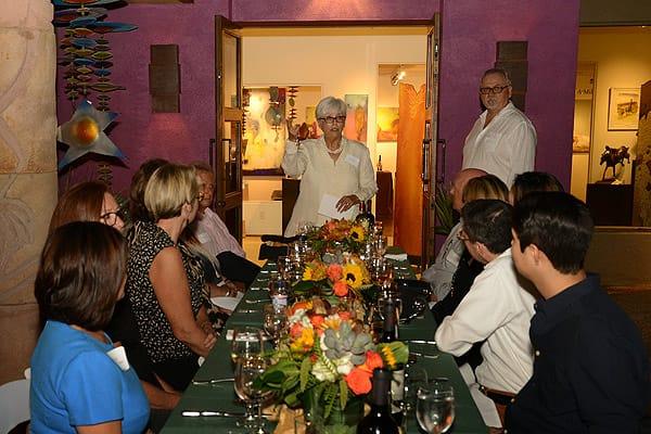 Dinner in the Garden, Under the Stars at Desert Art Collection - Oct. 16, 2015