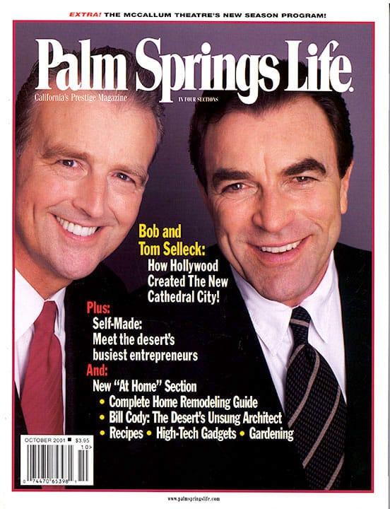 Palm Springs Life magazine - October 2001