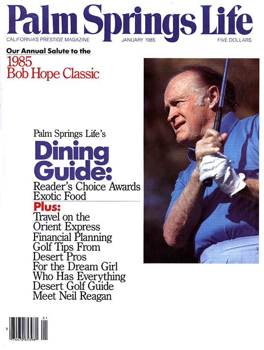 Palm Springs Life magazine - January 1985