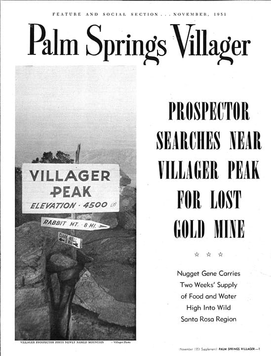 Palm Springs Villager magazine supplement - November 1951