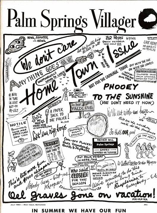 Palm Springs Villager magazine - July 1951