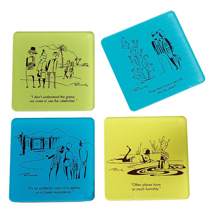 Rovinsky's Palm Springs Coaster Set - Blue-Green