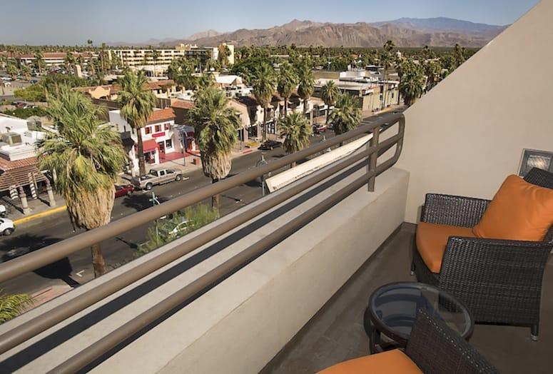 View from Hyatt Palm Springs balcony.