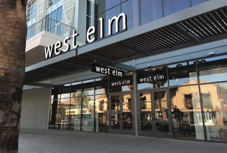 West Elm Palm Springs store front