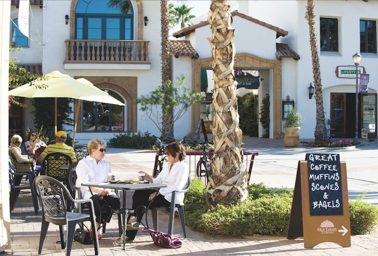 An outdoor patio in Old Town La Quinta