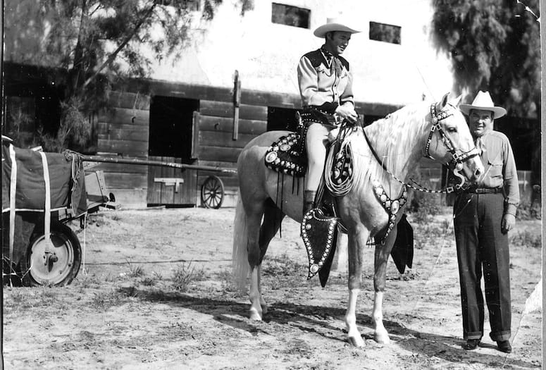Roy Rogers Attends Palm Springs Fan Club Meeting