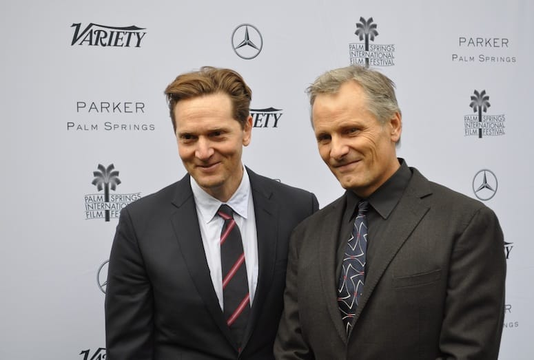 Captain Fantastic director Matt Ross and Viggo Mortensen