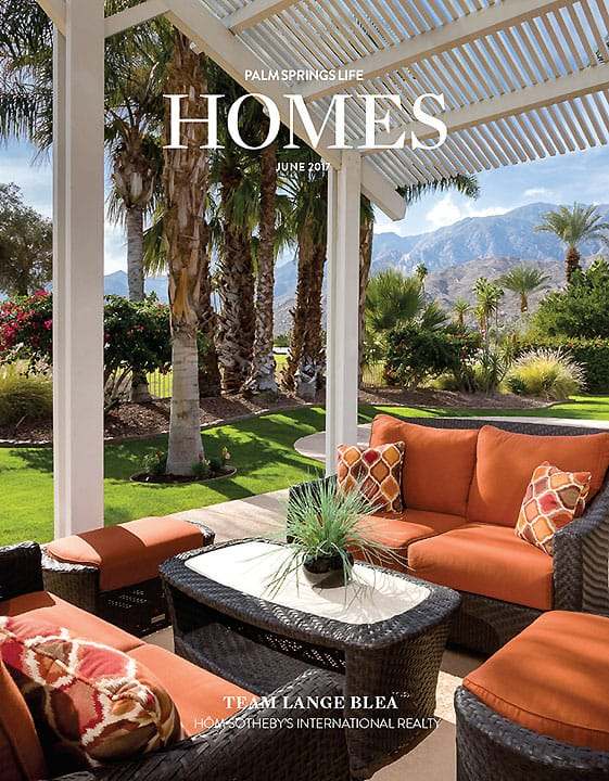 Palm Springs Life HOMES cover June 2017