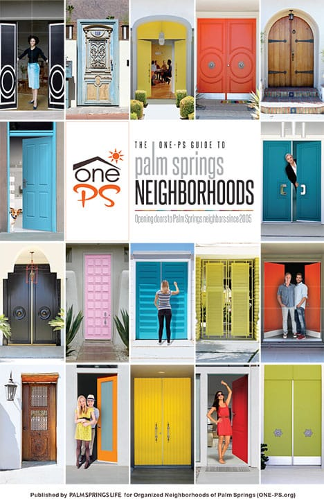 ONE-PS Palm Springs Neighborhoods Poster