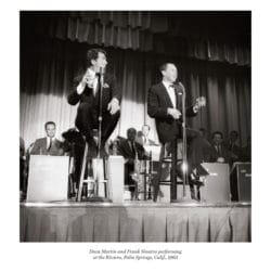 Dean Martin and Frank Sinatra performing at the Riviera, Palm Springs, Calif., 1963