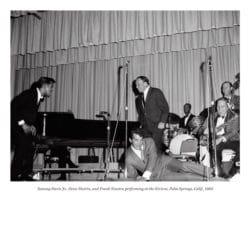 Sammy Davis Jr., Dean Martin, and Frank Sinatra performing at the Riviera, Palm Springs, Calif., 1963