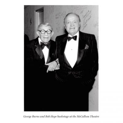 George Burns and Bob Hope backstage at the McCallum Theatre