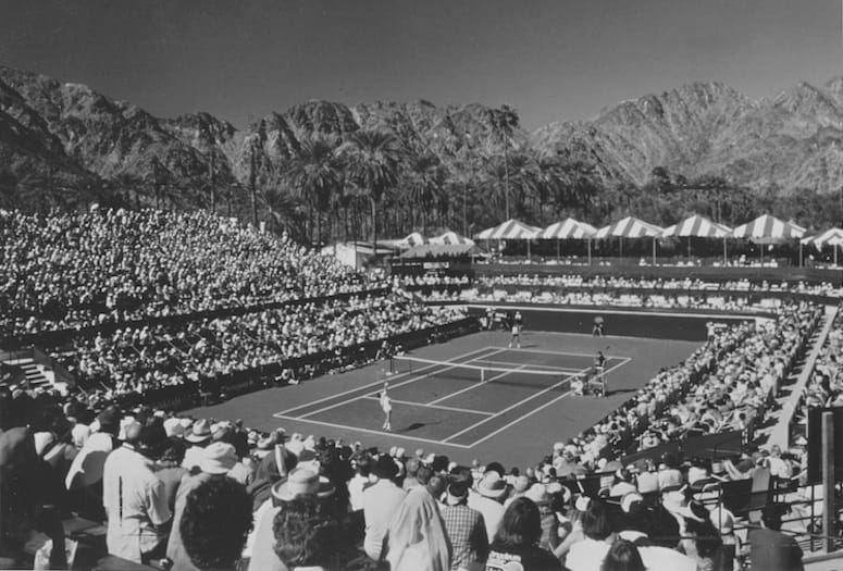 Classic photo of La Quinta Hotel tennis court