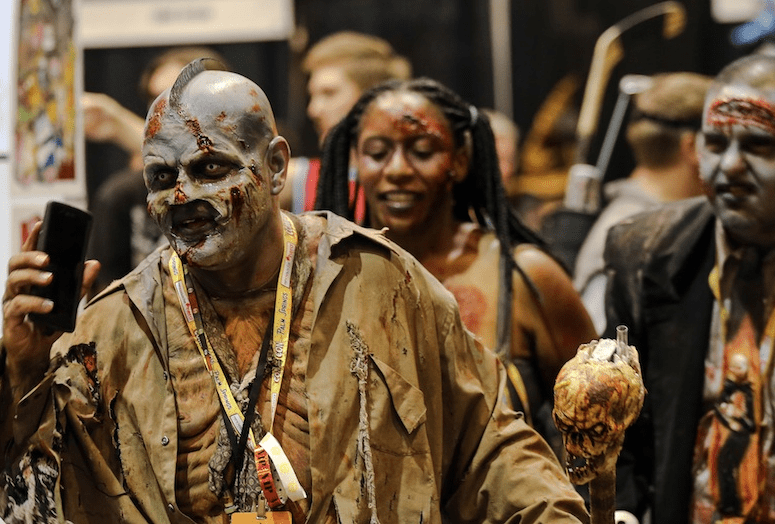 Zombie cosplay at Comic Con Palm Springs