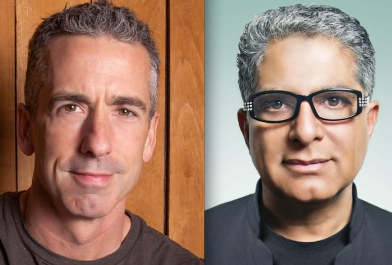 Palms Springs Speaks will feature Dan Savage (left) and Dr. Deepak Chopra.