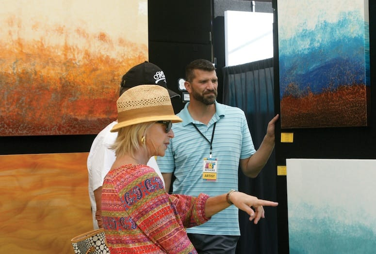 Rancho Mirage Art Affaire patrons and artist