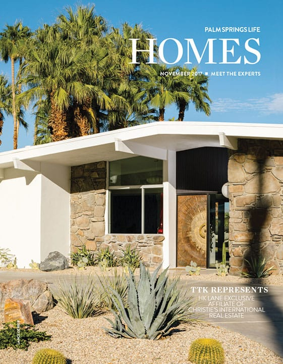 Palm Springs Life Homes November 2017 cover