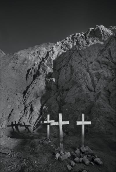 Crosses at Painted Canyon