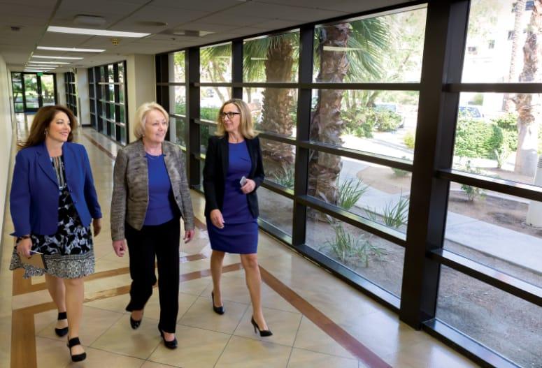 Linda Evans,  Lisa Wilson,  and Cathy O'Callaghan: Vision 2018
