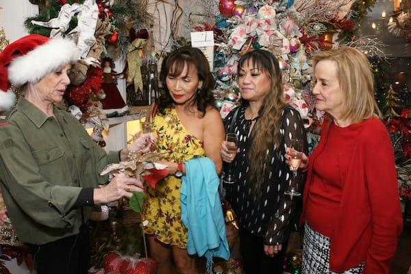 Nicole on El Paseo Holiday Season Kickoff Champagne Reception