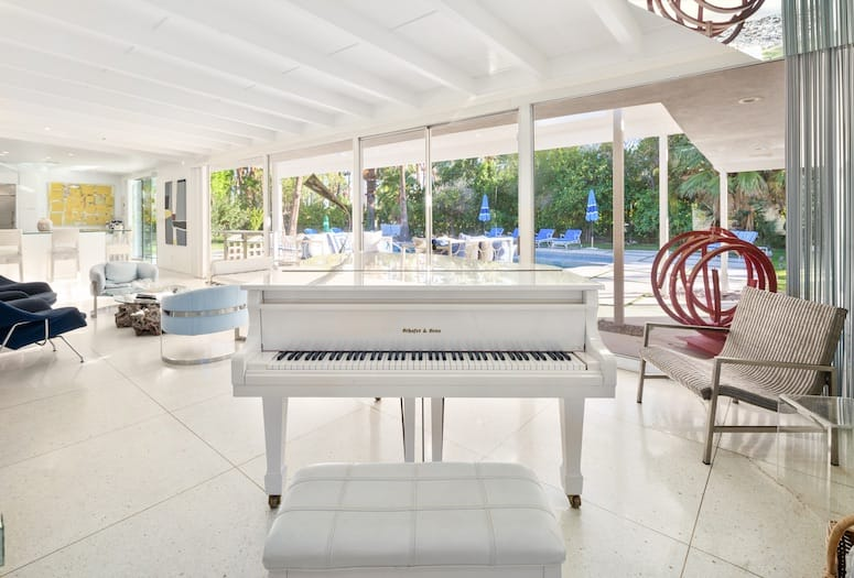 Dean Martin Piano Provides Old Hollywood Tie for Palm Springs Home