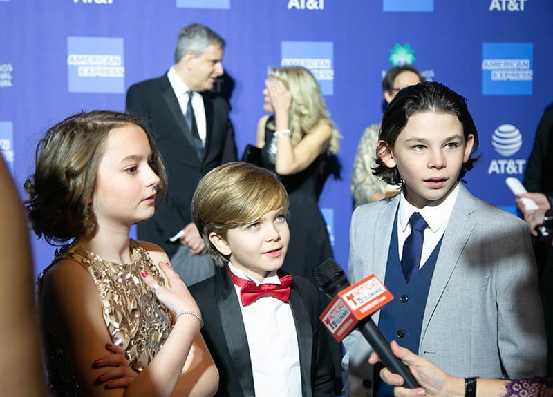 "Pixie Davies, Joel Dawson and Nathanael Saleh, Actors, ""Mary Poppins"". PSIFF 2019 Award Gala"