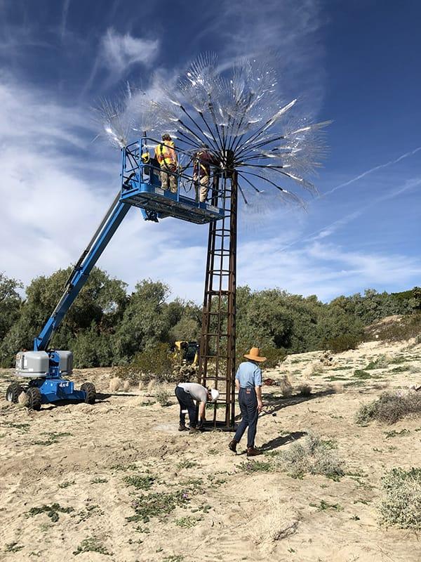 """Ghost Palm""-Kathleen Ryan, Desert X 2019. Photographed by Steven Biller"