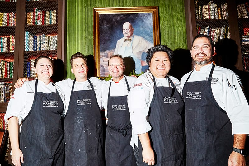 Palm Desert Food & Wine Dinner at The Beard House in New York City.