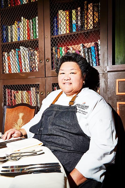Chef Leanne Kamekona at Palm Desert Food & Wine Dinner at The Beard House in New York City.