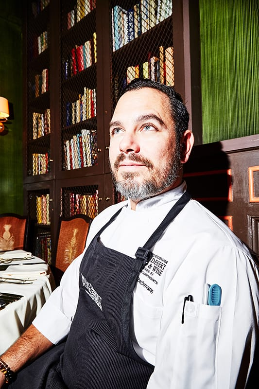 Chef Michael Beckman at Palm Desert Food & Wine Dinner at The Beard House in New York City.