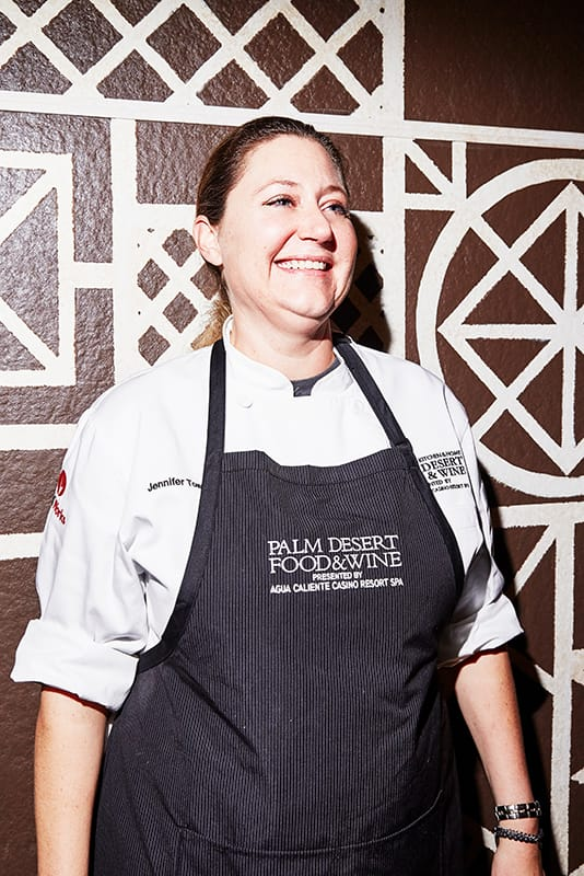 Chef Jennifer Town at Palm Desert Food & Wine Dinner at The Beard House in New York City.