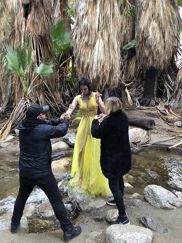 Behind the Scenes Spring Fashion Shoot for March 2019