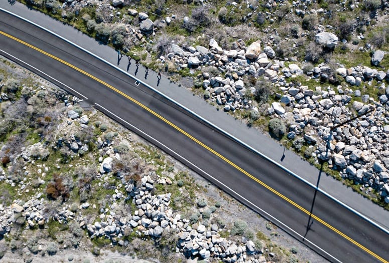 palm springs tram road