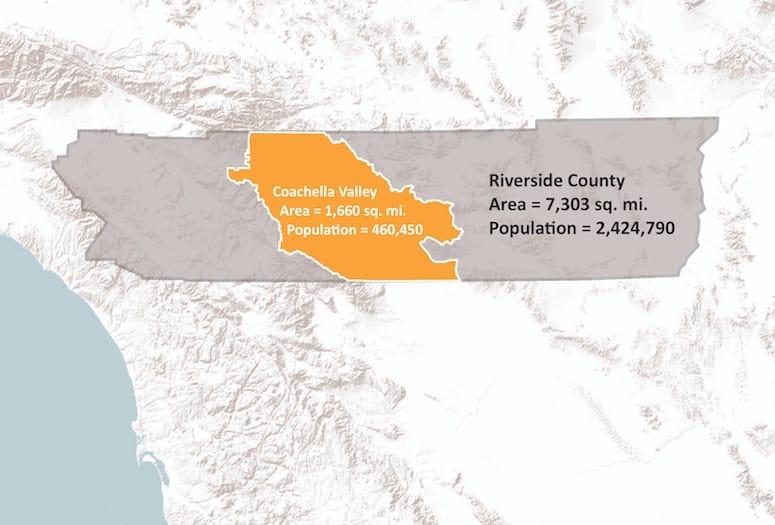 riverside county size