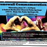 Stonewall Commemorative at United Methodist Church Palm Springs
