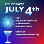 Independence Day Celebration & Fundraiser for AAP – Food Samaritans at the Historic O'Donnell House In Palm Springs