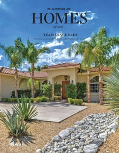 July 2019 Palm Springs Life Homes Cover